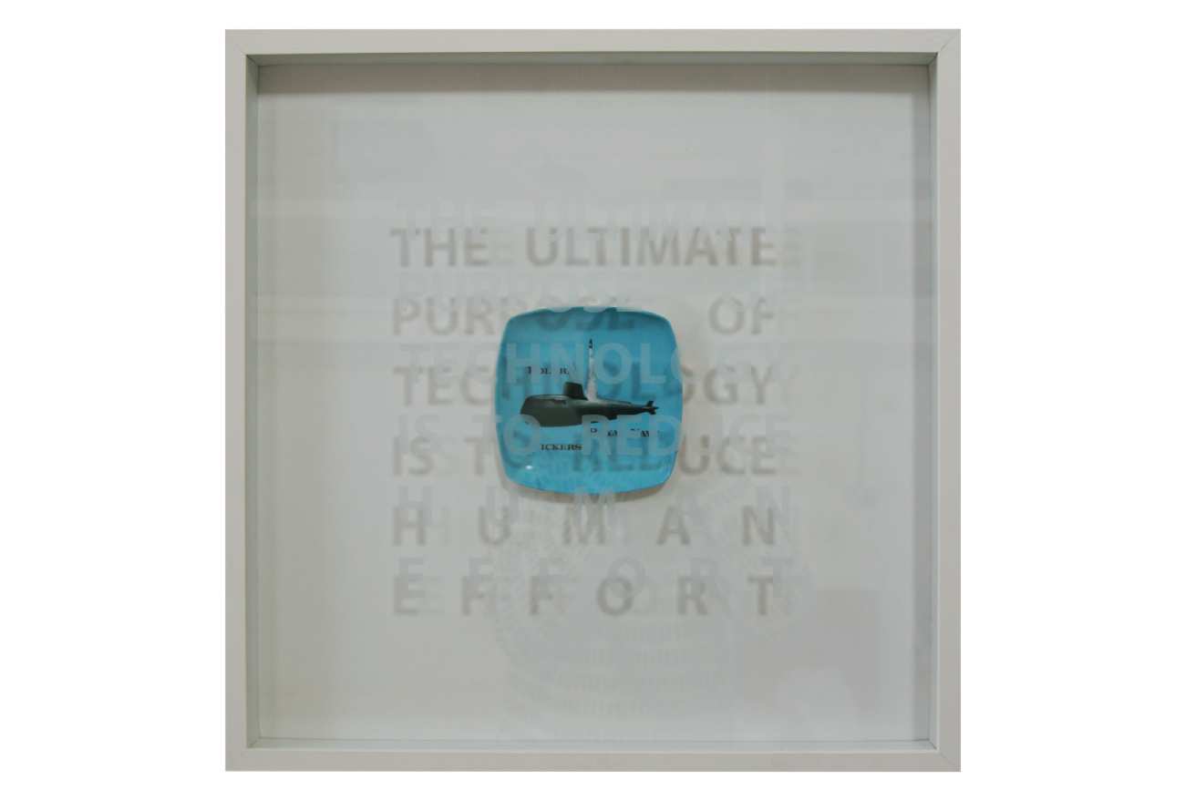 stuart-stuart-bastik-uk-the-ultimate-purpose-of-technology-is-to-reduce-human-effort-2009-vickers-polaris-ashtray-and-etched-glass